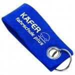 Filz-Schlüsselanhänger, Blau inkl. 1-farbigem Druck