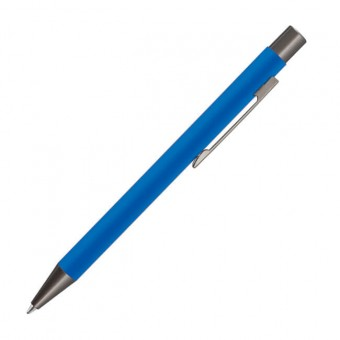 Metall-Kugelschreiber Gum, Mittelblau inkl. Gravur mittelblau inkl. Gravur