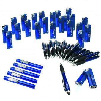 Werbe-Sparset, 310-tlg., Blau blau inkl. 1-farbigem Druck in silber