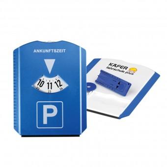 Parkscheibe Funktion, blau inkl. 4c Digitaldruck blau inkl. 4c Digitaldruck
