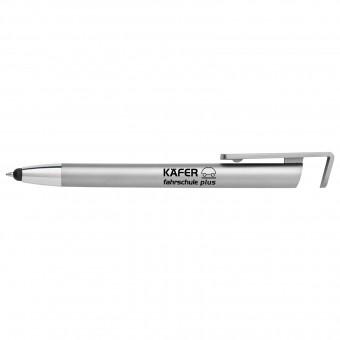Touch-Pen mit Handyhalterung, silber inkl. 1-farbigem Druck silber inkl. 1-farbigem Druck auf 1 Position