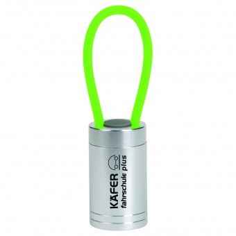 Taschenlampe mit Silikonband, Grün inkl. Gravur grün inkl. Gravur auf 1 Position