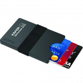 Mini-Portemonnaie iWallet Compact, Schwarz inkl. 1-farbigem Druck schwarz inkl. 1-farbigem Druck auf 1 Position
