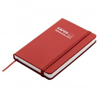 Notizbuch Happy, DIN A6, Rot inkl. 1-farbigem Druck rot inkl. 1-farbigem Druck auf 1 Position